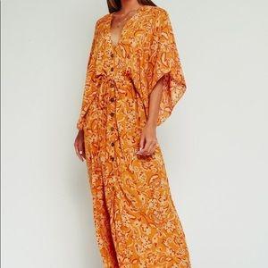 Olivaceous Kimono Maxi